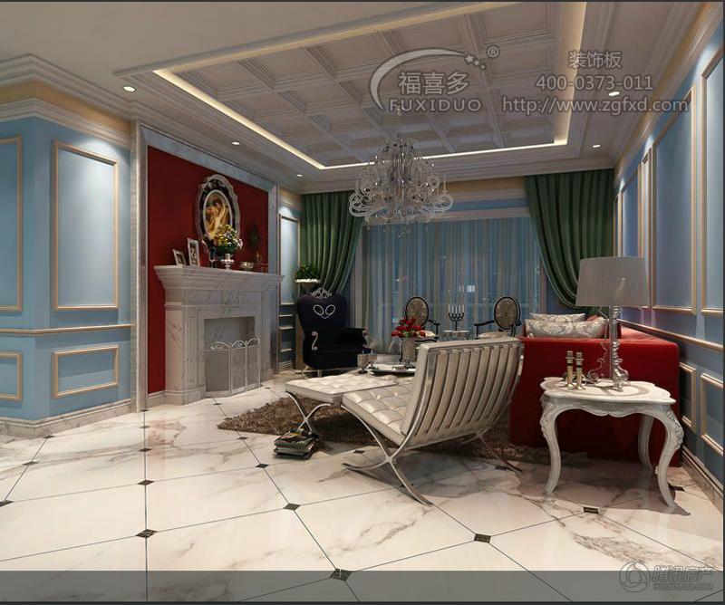 欧式天花吊顶 - 儿童房间软包|幼儿园装饰材料|审讯室