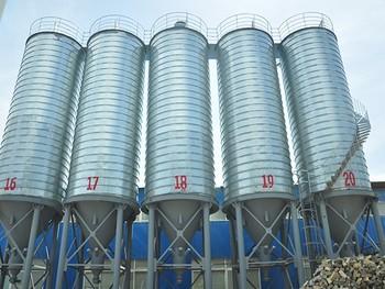 全钢结构铝粉仓