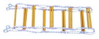 绞制合纤软梯