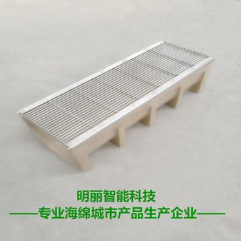 厂家直销成品线性树脂混凝土排水沟201|304不锈钢缝隙式中缝盖板