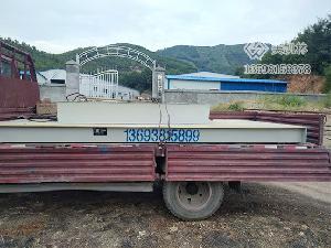 南阳南召2×4米10吨地磅安装案例