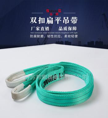 苏邦 2T钢管吊带 一次性扁平吊带 sling 索具 一次性出口吊带