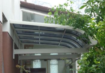 铝合金雨棚透明雨蓬屋檐雨棚车篷遮阳遮雨篷耐力板雨搭洛阳鹿麒麟