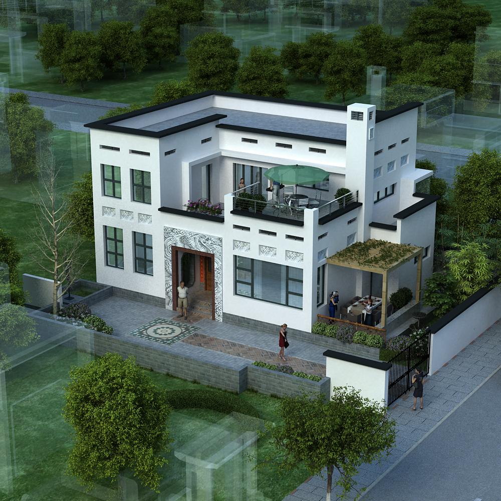 二层中式农村小别墅