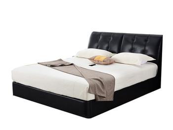 高箱储物皮艺床婚床
