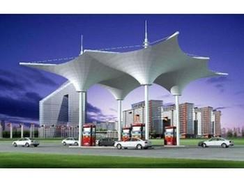 膜结构加油站棚
