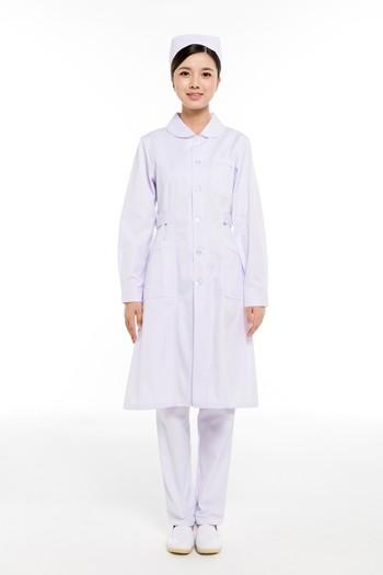 冬装白色小圆领护士服