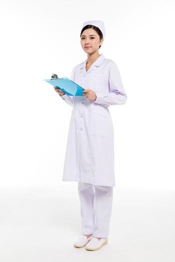 冬装白色西服领护士服