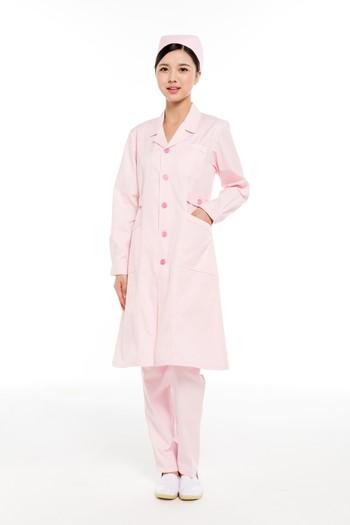 冬装粉色西服领护士服