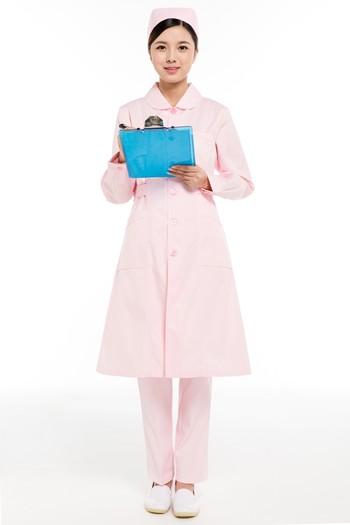 冬装粉色小圆领护士服