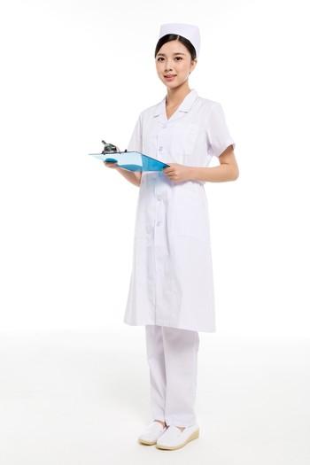 夏装白色西服领护士服