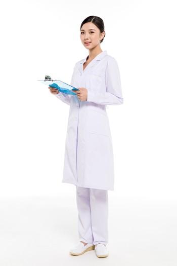 冬装白色女医师服