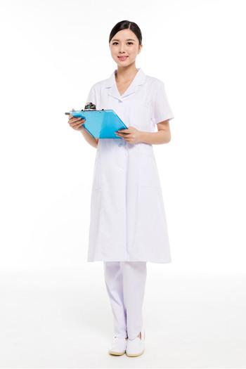 夏装白色女医师服