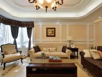 常桂装饰179平米美式风格大户型室内装修