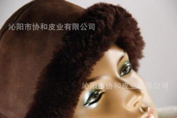 秋冬新款韩版时尚皮毛一体保暖圆顶女帽厂家直批