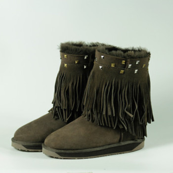 正品羊 皮毛一体雪地靴中筒女靴 澳洲纯色女式靴厂家直销