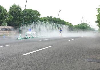 马拉松喷雾降温方案