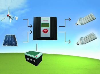 太阳能风光互补结构图