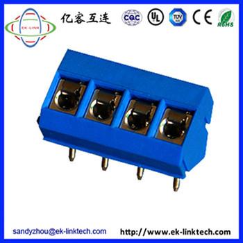 广东区供应 间距5.0mm弹片式PCB接线端子工控安防连接器