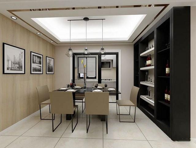 105平米现代风格三室两厅室内装修效果图赏析