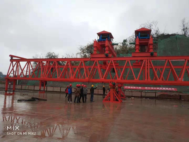 架橋機 四川省資陽市 資潼高速  40/180噸架橋機安裝完成