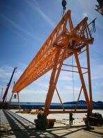 中鐵一局集團天津工地新東方起重機集團路橋門機120+120噸跨度56米