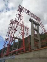 元高速公路工程的MG80-23m H=46/41m高低腿龍門吊