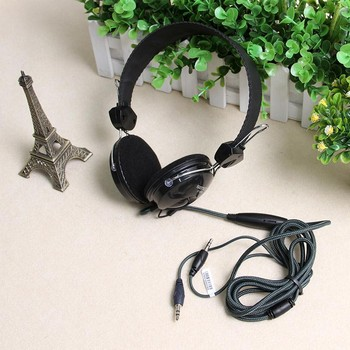 声丽 ST-808 立体声头戴式电脑耳麦带线控麦克风