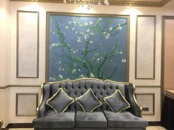 绘美艺术墙长江贸易中心 公司展厅实景