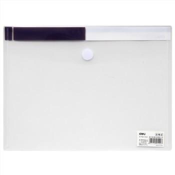 得力5504粘扣文件袋A4(透明)
