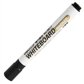得力6817可擦白板笔水性可擦(黑)10支/盒