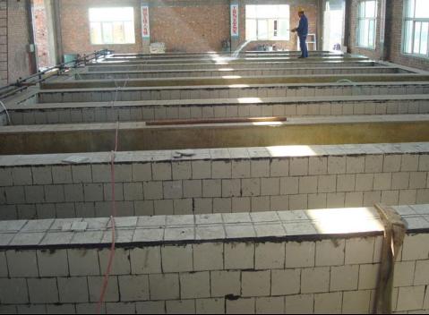 耐酸磚施工
